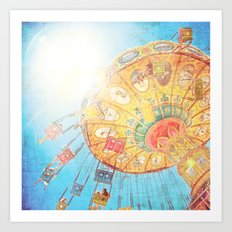 Boardwalk Fun Art Print