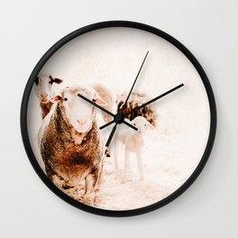 Milly's family portrait Wall Clock