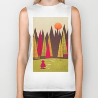 red riding hood Biker Tanks featuring Little Red Riding Hood by Annisa Tiara Utami