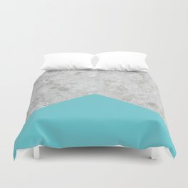 Concrete Arrow - Light Blue #206 Duvet Cover