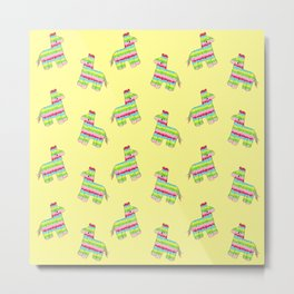 Pinata Pattern Yellow Metal Print