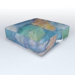 Koi Pond Batik Outdoor Floor Cushion