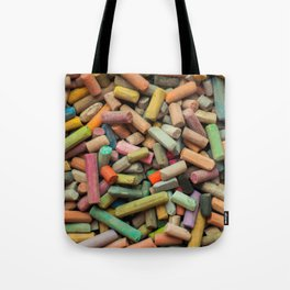 colored pastel chalks Tote Bag