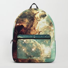 Monkey Head Nebula. Dreamy Teal Backpack