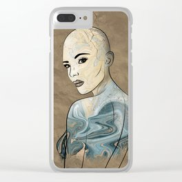 SeaBorn Gold Struck #2 Clear iPhone Case