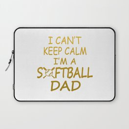 I'M A SOFTBALL DAD Laptop Sleeve