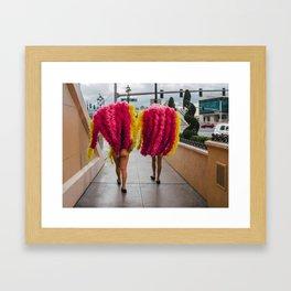 Vegas Legs Framed Art Print