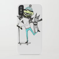 sport iPhone & iPod Cases featuring Sport frog by KRADA ZHAN ART