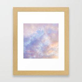 Pink sky / Photo of heavenly sky Framed Art Print