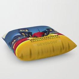 Dead Pool Taxi Night Floor Pillow