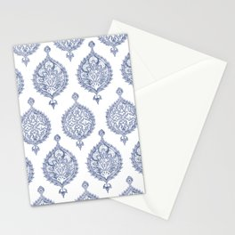 Endana Medallion Print in Periwinkle Stationery Cards