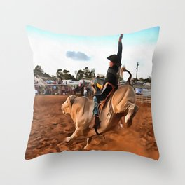 Rough Ride Throw Pillow