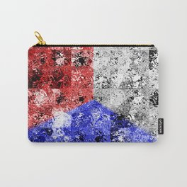 Glass Tiles Tricolor RWB Carry-All Pouch