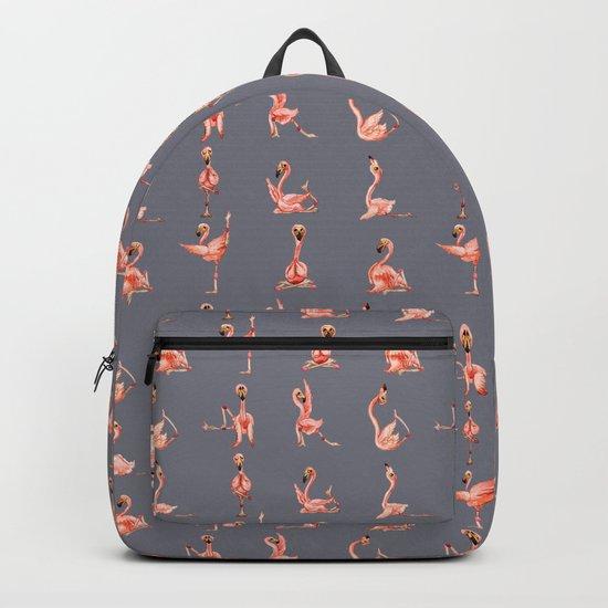 Flamingo Yoga Watercolor by huebucket