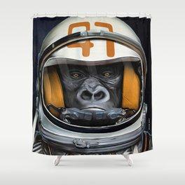 Space Ape Shower Curtain