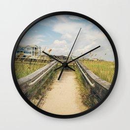 Beach Boardwalk (Square) Wall Clock