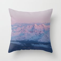 Perfect sunrise in South Tyrol Throw Pillow