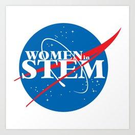 Women in STEM Art Print