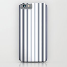 Dark Sargasso Blue Mattress Ticking Wide Striped Pattern - Fall Fashion 2018 iPhone Case