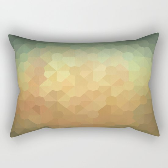 Nature's Glowing Geometric Abstract Rectangular Pillow