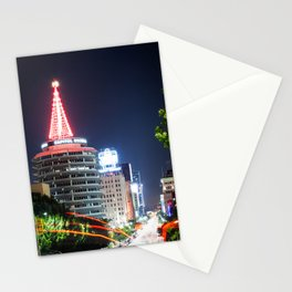 Christmas in Hollywood - day one color Stationery Cards
