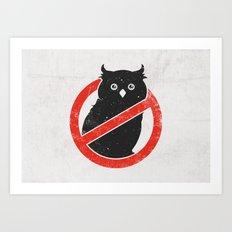 No Owls Art Print