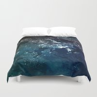 europe Duvet Covers featuring Europe UpsideDown by Marco Bagni