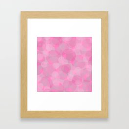 Pink Bubbles 3 Framed Art Print