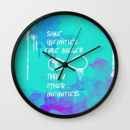 John Green: Some infinities are bigger than other infinities. Wall Clock