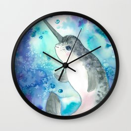 Baby narwhal Wall Clock