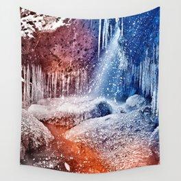 Acrylic Winter Stream Wall Tapestry
