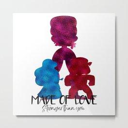 Made of Love Metal Print