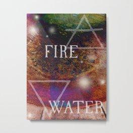 Fire Meets Water Metal Print