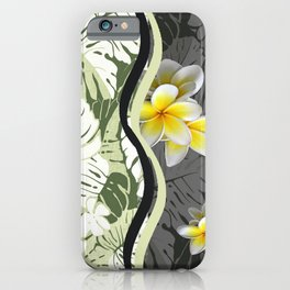 Contemporary Hawaiian Tapa with Plumeria iPhone Case