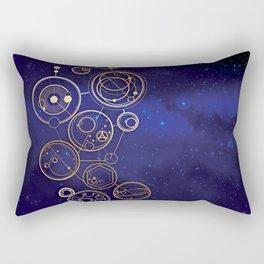 Gallifrey Gold Space Geometry Rectangular Pillow