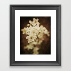 Little White Flowers Framed Art Print