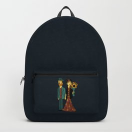 Love is Art Frida Kahlo and Van Gogh Backpack