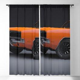 1969 Hugger Orange Hemi Charger RT color photograph / photography / poster Blackout Curtain