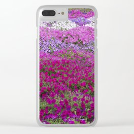 Waves of color on a sea of Petunias Clear iPhone Case