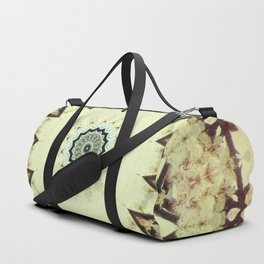 Cream Maroon Mauve Green Blue Mandala Kaleidoscope A131 Duffle Bag