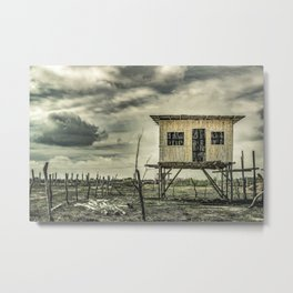 Traditional Cane House, Guayas, Ecuador Metal Print
