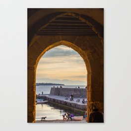 Sunset in Cefalu Canvas Print