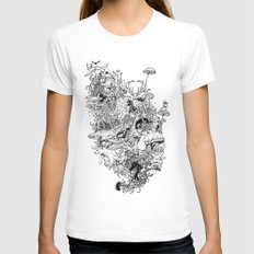 Growth Womens Fitted Tee White MEDIUM