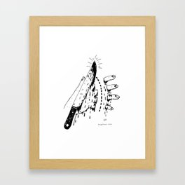 CHOP HERE Framed Art Print