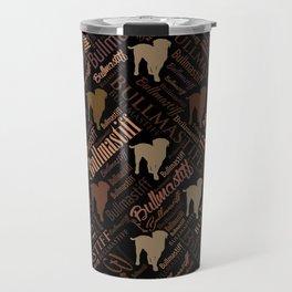 Bullmastiff Dog Word Art pattern Travel Mug