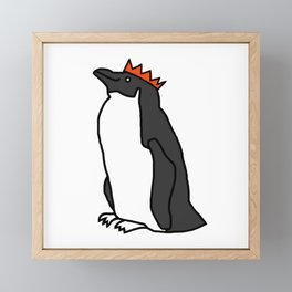 Classic Penguin with a Party Hat Framed Mini Art Print