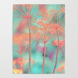 Floral abstract (80) Poster