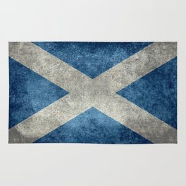 Flag of Scotland, Vintage retro style Rug