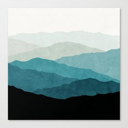 Fading Mountains Canvas Print