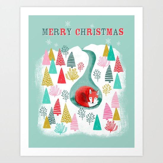 Winter's Fox by Andrea Lauren  Art Print
